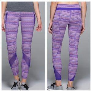 Lululemon Inspire tight II mesh iris run leggings